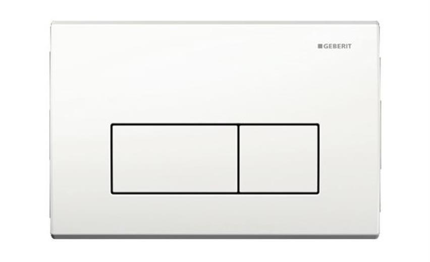 Abdeckplatte KAPPA50 Zinkdruckguss, Zweimengen- - weiss