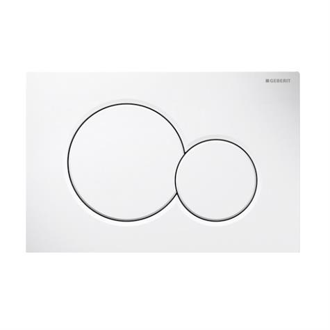 Abdeckplatte SIGMA01 Kunststoff, Zweimengen- - weiss