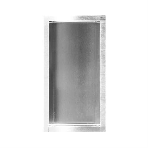 Rahmen in Edelstahl poliert, ohne Türe