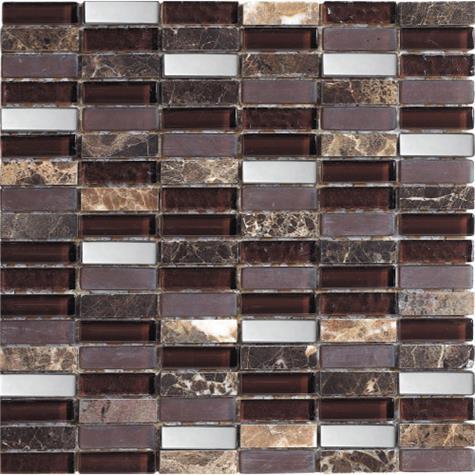 Wandplatte MALLA Mosaik Kubica imperial