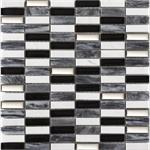Wandplatte MALLA Mosaik Kubica onix