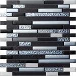 Wandplatte MALLA Mosaik Quartz black